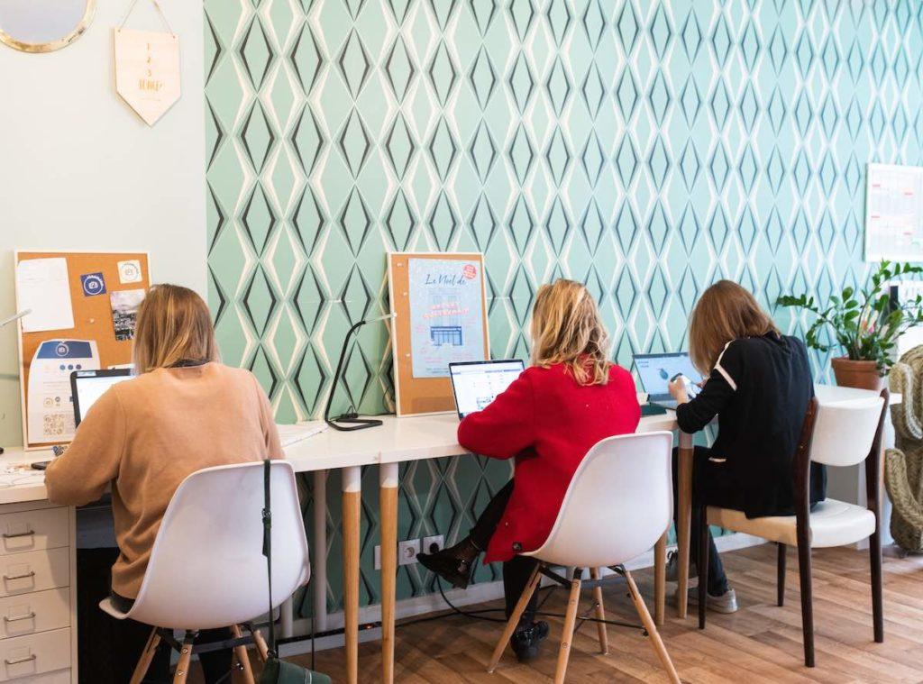 Espace de coworking féminin à Paris